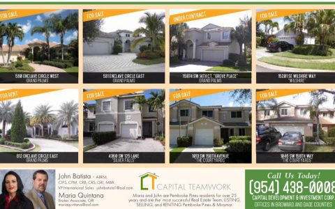 Check out some of our current listings. Please contact us for more information           @ 954-438-0008